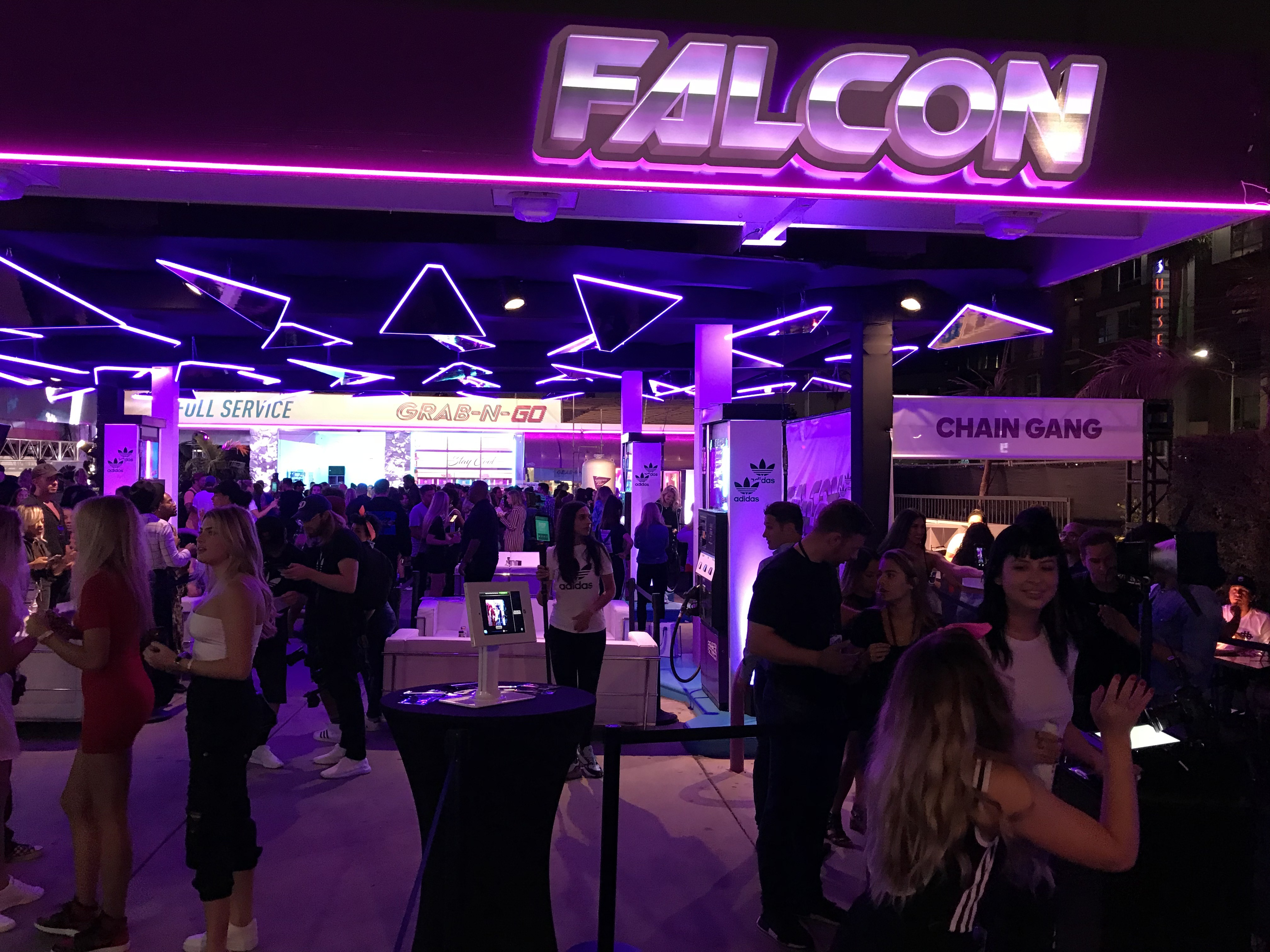 Image Options Helps out with an Incredible Event Space Launch for Adidas Falcon Sneakers